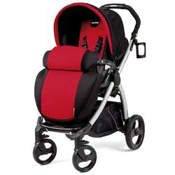 Peg Perego IPBR30NA34FT13MJ49 Book Plus Stroller - Flamenco - Cherry Red/Black