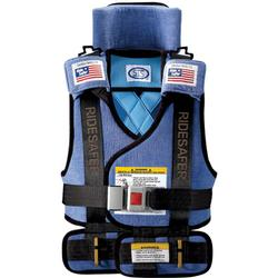 Safe Traffic Systems JO10201BWB Safe Rider 2 Travel Vest Large (50 to 80 lb) - Blue