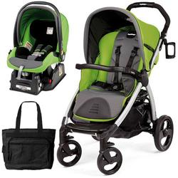 Peg Perego Book Stroller Travel System with a Diaper Bag - Mentha-Apple Green/Grey