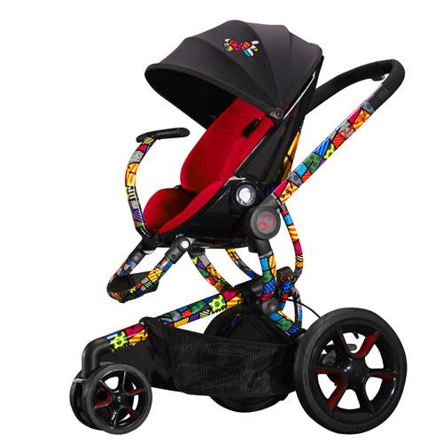 Quinny Moodd Pushchair In Blue Base With Maxi Cosi: Quinny CV218BTO Britto Moodd Stroller (Red)