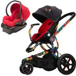 Quinny Britto Moodd Stroller Travel system w/Mico Car Seat (Red)