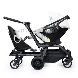 Orbit Baby Helix G2 Double Stroller with Infant Car Seat in Black/Slate