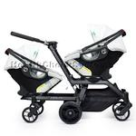 Orbit Baby Helix G2 Double Stroller with 2 Infant Car Seats in Black/Slate