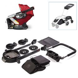 Orbit Baby Helix Plus Stroller Travel Upgrade Kit with Infant Car Seat in Ruby/Slate