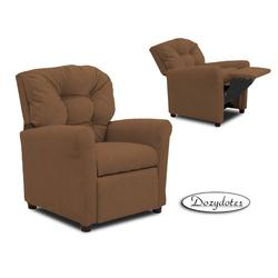 Dozydotes 14000 MicroSuede Four Button Childrens Recliner - Camel