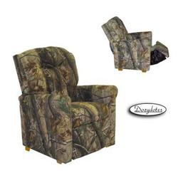 Dozydotes 13001 Fabric Four Button Childrens Recliner - Camouflage Green/Real Tree