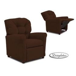 Dozydotes 14020 Micro Suede Four Button Childrens Recliner - Chocolate Micro Suede