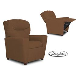 Dozydotes 14110 Micro suede Children's Recliner with Cup Holder - Camel