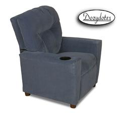 Dozydotes 13200 Micro Suede Children's Recliner with Cup Holder - Taurus Blue