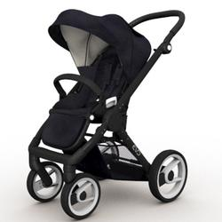 Mutsy EVO  Black Chassis Stroller in Black