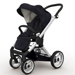 Mutsy EVO Brushed alum. Chassis Stroller in Black
