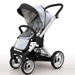 Mutsy EVO Brushed alum. Chassis Stroller in Silver