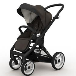 Mutsy EVO  Black Chassis Stroller in Brown
