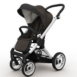 Mutsy EVO Brushed alum. Chassis Stroller in Brown