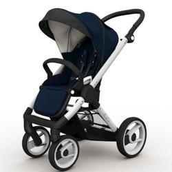 Mutsy EVO Brushed alum. Chassis Stroller in Navy