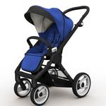 Mutsy EVO  Black Chassis Stroller in Blue