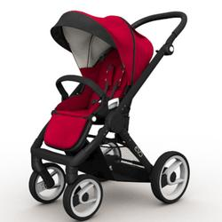 Mutsy EVO  Black Chassis Stroller in Red