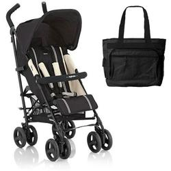 Inglesina AG82D0LQRUS Trip Stroller With Rain Cover & Matching Diaper bag - Liquirizia (black)