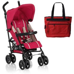 Inglesina AG82D0IBSUS Trip Stroller With Rain Cover & Matching Diaper bag - Ibisco (red)