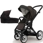 Mutsy EVO  Black Chassis Newborn Stroller System In Brown