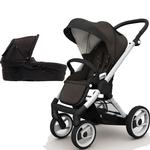 Mutsy EVO  Brushed alum.Chassis Newborn Stroller System In Brown