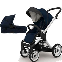 Mutsy EVO  Brushed alum.Chassis Newborn Stroller System In Navy