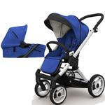 Mutsy EVO  Brushed alum.Chassis Newborn Stroller System In  Blue