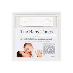 Baby Art, FR019WHO News Print Frame - White