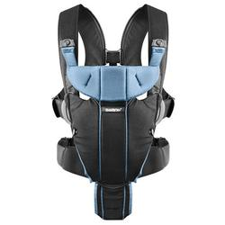 Baby Bjorn 096095US Miracle Baby Carrier - Black/light Blue Cotton Mix