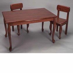 GiftMark 3001C Queen Anne Rectangular Table and Chair Set, Cherry