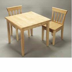 GiftMark 4525N Square Table and Chair Set, Natural
