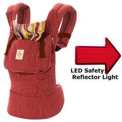 Ergo Baby BC608LPRNLA  Original Baby Carrier - Sangria with LED Safety Reflector Light