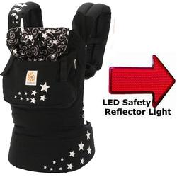 Ergo Baby BCEPR001NL Original Baby Carrier - Night Sky  with LED Safety Reflector Light