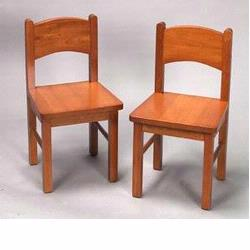 GiftMark 1408 Solid Wood Chair Set, Honey