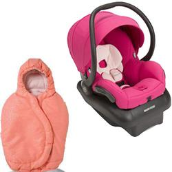 Maxi-Cosi - Mico AP Infant Car Seat with Footmuff - Bright Rose