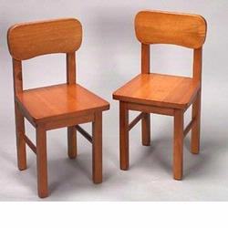 GiftMark 1409 Solid Wood Chair Set, Honey