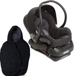 Maxi-Cosi Mico AP Infant Car Seat with Footmuff- Devoted Black