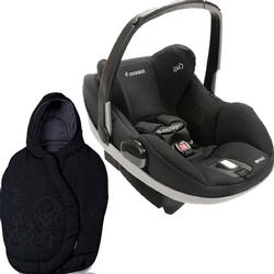 Maxi-Cosi IC090BIZ Prezi Infant Car Seat Devoted Black with Total Black Footmuff