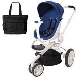 Quinny CV078BXQ Moodd Stroller in Blue Defiance With a Diaper Bag