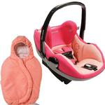 Maxi-Cosi IC090BIW Prezi Infant Car Seat in  Passionate Pink with Leopard Pink Footmuff