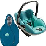 Maxi-Cosi IC090BIU Prezi Infant Car Seat in Courageous Green with Blue Sky Footmuff