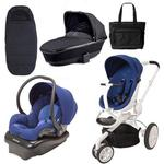Quinny CV078BXQ Moodd Stroller Complete Collection in Blue Defiance