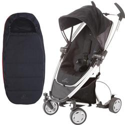 Quinny CV217RKB Zapp Xtra Folding Seat Stroller With Footmuff - Rocking Black