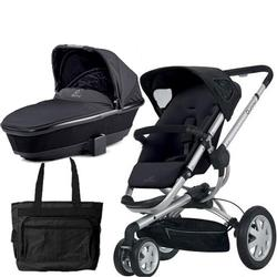 Quinny CV155RKB Buzz 3 Pram Set Bassinet and Diaper Bag - Rocking Black