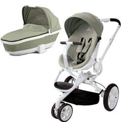 Quinny CV078BFV Moodd Pram Set Stroller with Bassinet - Natural Delight/Storm