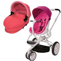 Quinny BT042BFX Moodd Pram Set Stroller with Bassinet - Pink Passion/Pink Blush