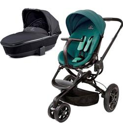 Quinny CV078BFQ Moodd Pram Set Stroller with Bassinet - Green Courage/Rocking Black