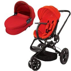 Quinny CV078BHR Moodd Pram Set Stroller with Bassinet - Red Envy/Rebel Red