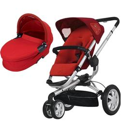 Quinny CV155RLR Buzz 3 Pram Set Bassinet - Rebel Red