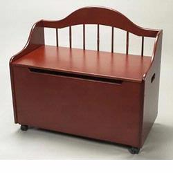 GiftMark 4025C Toy Chest / Deacon Bench - Cherry